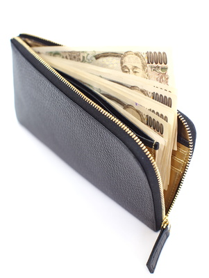 wallet and Japanese money